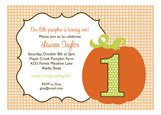 Pumpkin Turning One Invitation