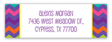 Purple Chevron Address Label