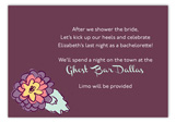 Purple Floral Enclosure Card