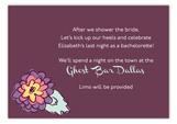 Purple Floral Enclosure Card