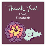 Purple Floral Gift Tag