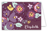 Purple Floral Note Card