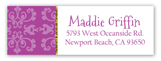 Purple Glitter Princess Address Label