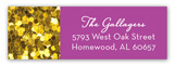 Purple Glitter Sixteen Address Label