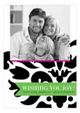 Purple + Green Festive Flourish Photo Card