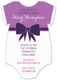 Purple Patterns Onesie Invitation