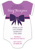 Purple Patterns Onesie Invitation