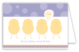 Purple Polka Dot Chicks Folded Note Card