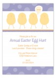 Purple Polka Dot Chicks Invitation