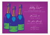 Purple Savvy Cocktail Invitation