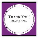 Purple Senior Seal Square Sticker