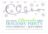 Purple Swirly Celebration Invitation
