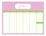 Quatrefoil Calendar Pad