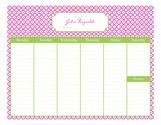 Quatrefoil Calendar Pad