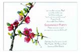 Quince Branch Invitation