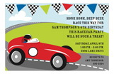 Racer Race Car Party Invitation