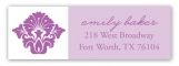 Radiant Orchid Damask Print Address Label