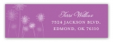 Radiant Orchid Dandelion Address Label