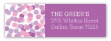 Radiant Orchid Falling Confetti Address Label