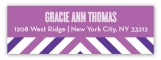 Radiant Orchid Graphic Sides Address Label