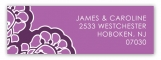 Radiant Orchid Lace Address Label