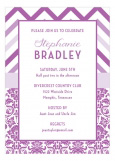 Radiant Orchid Pattern Invitation
