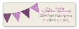 Radiant Orchid Pennant Banner Address Label