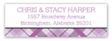 Radiant Orchid Plaid Address Label