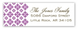 Radiant Orchid Pure Pattern Address Label