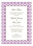 Radiant Orchid Pure Pattern Invitation