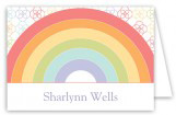 Rainbow Birthday Folded Note Card