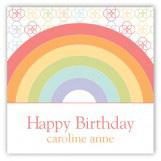 Rainbow Birthday Square Sticker