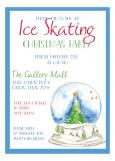 Snow Globe Ice Skating Christmas Party Invitation