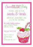 Holiday Cupcake Invitation