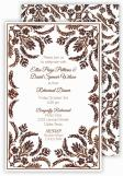 Brown Pattern Fall Invitation