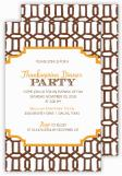 Brown Lattice Fall Invitation