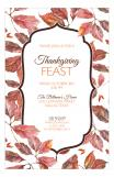 Double Rounded Leaves Fall Invite