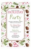 Pinecone Christmas Invitation