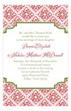 Red Tile Holiday Party Invitation