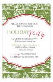 Green White Trees Holiday Invitation