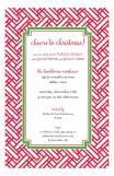 Red Tiles Pattern Invitation