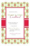 Ikat Pattern Holiday Invitation