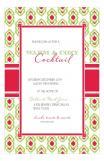 Ikat Pattern Holiday Invitation