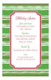 Green Stripes Pattern Invite