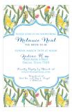 Yellow and Blue Parrots Invitation