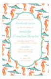 Seahorse Nautical Bridal Shower Invitation