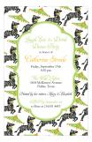 Zebra Party Invitation