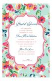 Seafoam Floral Invitation