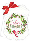 Merry Merry Die-Cut Tie-Up Invitation