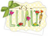 Its a Luau Die-Cut Tie-Up Invitation